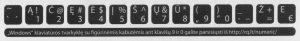 """""""Skaitmenų eilės"""" išdėstymo klaviatūros lipdukai – mažesnis rinkinys"""